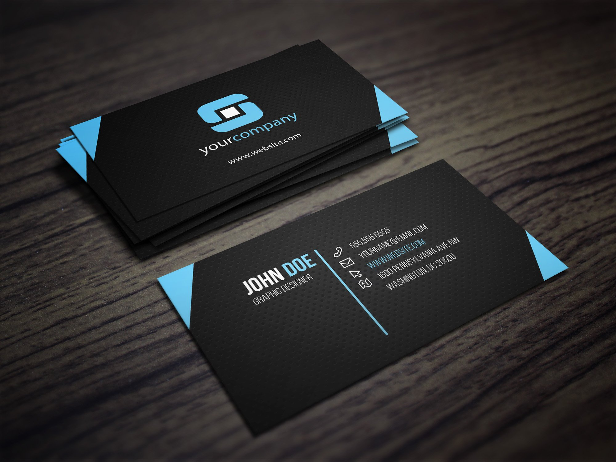 Carbon business card business card templates creative market reheart Gallery