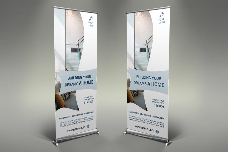 Real Estate - Roll Up Banner