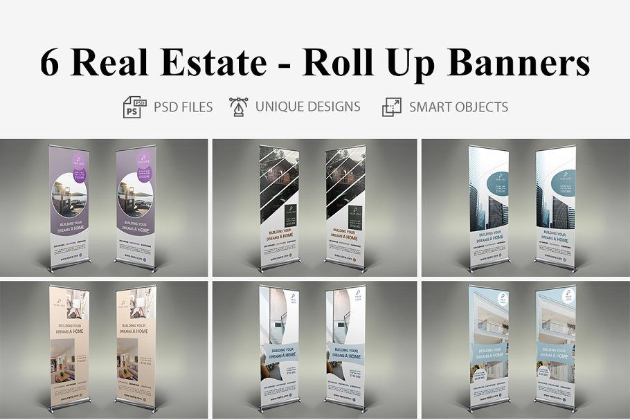 Real Estate - Roll Up Banners
