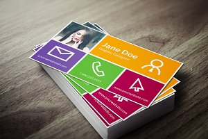 Metro Business Card Template Business Card Templates Creative Market - Windows business card template