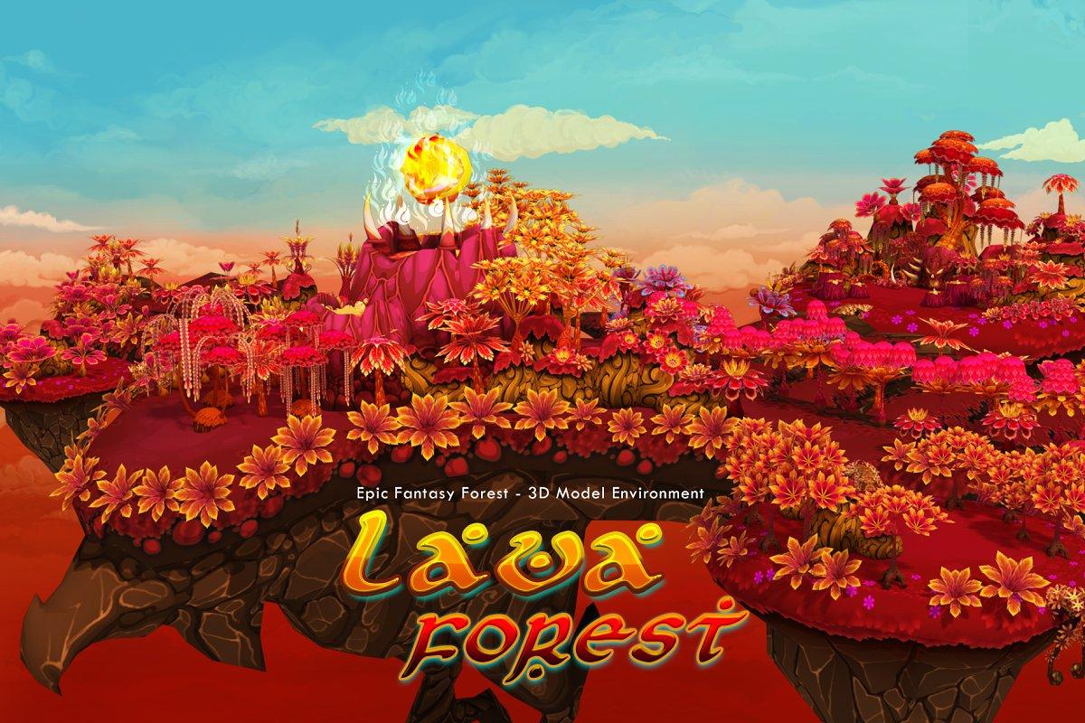 Fantasy Lava Forest