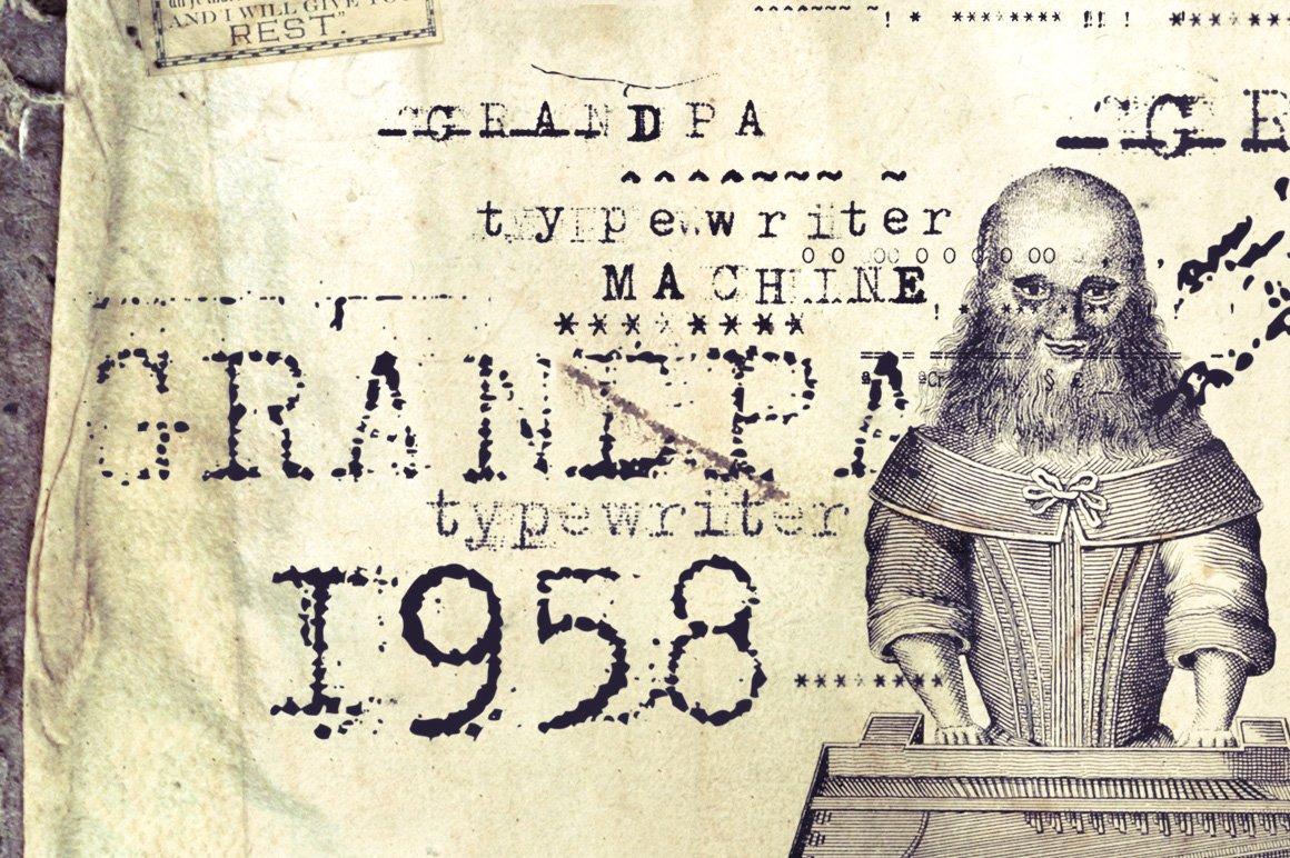 Grandpas Typewriter 30% OFF ~ Display Fonts ~ Creative Market
