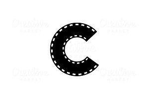 Letter C Cinema Logo Template