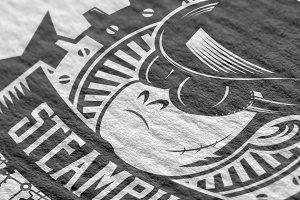 Steampunk Logo Template