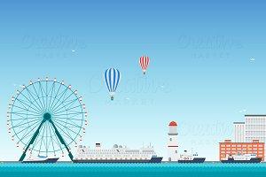 Vector Passenger Seaport