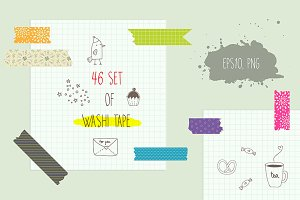 Washi Tape Clipart & Vectors Set