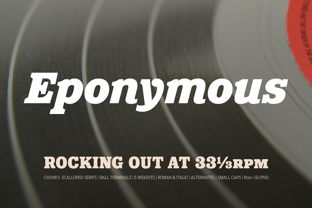 Eponymous 10 Slab Serif Fonts