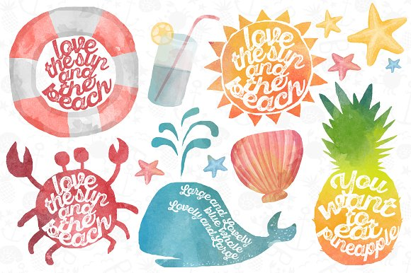 Watercolor Summer pack