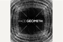 Abstract geometric background in 3D