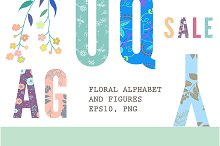Floral alphabet & Figures