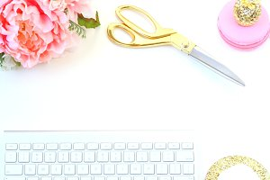 Blush and Gold Styled Stock Photo