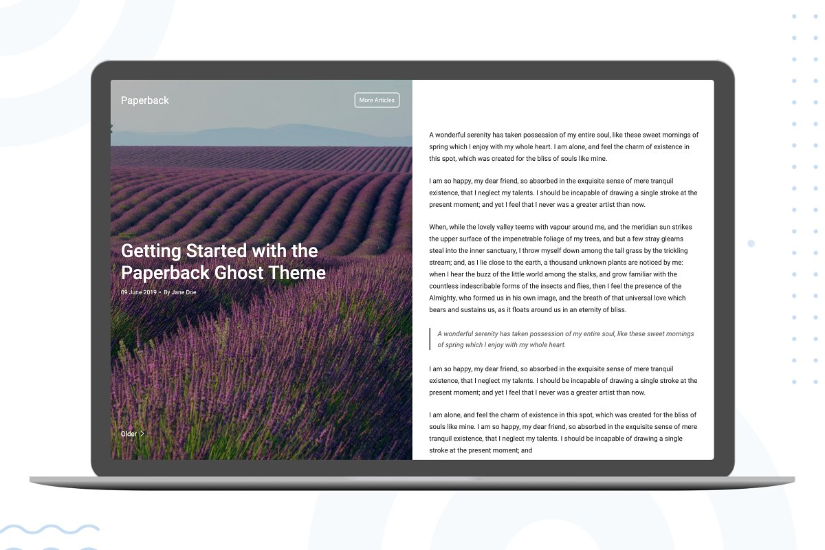 Paperback - A ghost blogging theme