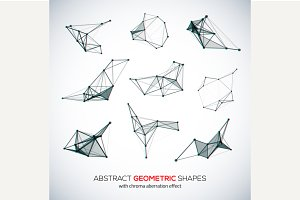 Set of abstract geometric shapes