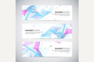 Vector geomertic banners set