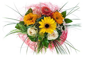 Flower bouquet arrangement.