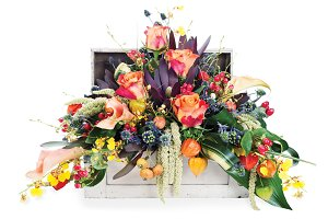 Colorful floral arrangement.