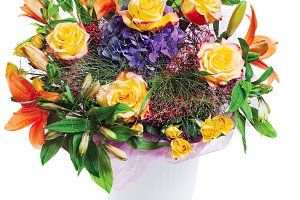 Colorful flower bouquet.