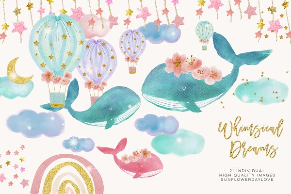 Baby Whales clipart