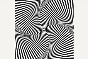 Optical illusion art square vector