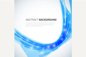 Abstract 3d lines vector background