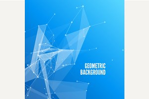 3D Blue Abstract Mesh Background