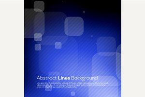 Blue abstract lines business vector
