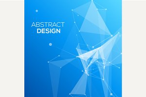 Blue Abstract Mesh Background