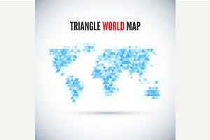 Triangle Map abstract isolated