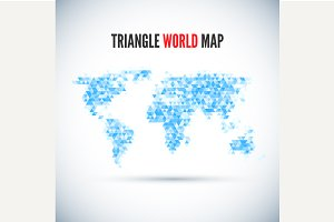 Triangle Map abstract isolated on a