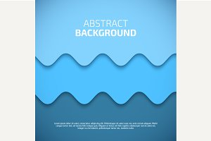 Abstract 3d Blue Background Vector