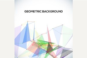 Vector geometric background