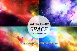20 Water color Space backgrounds