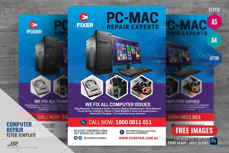 Computer And Laptop Repair Flyer Flyer Templates