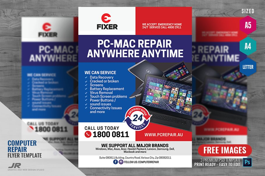 Laptop And Computer Repair Flyer Flyer Templates