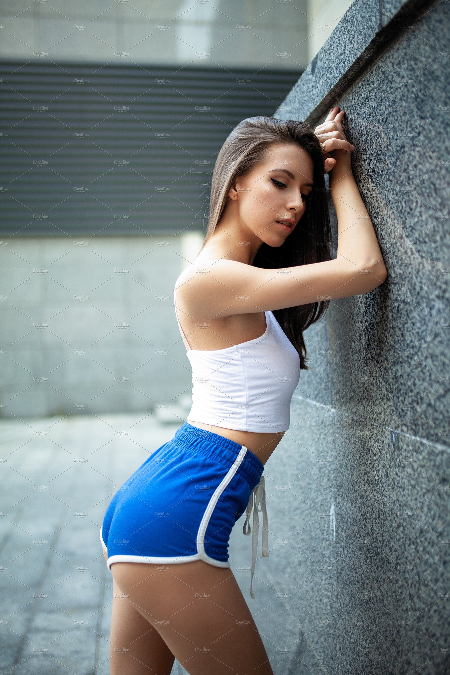 Beautiful young sexy girl athlete re featuring female