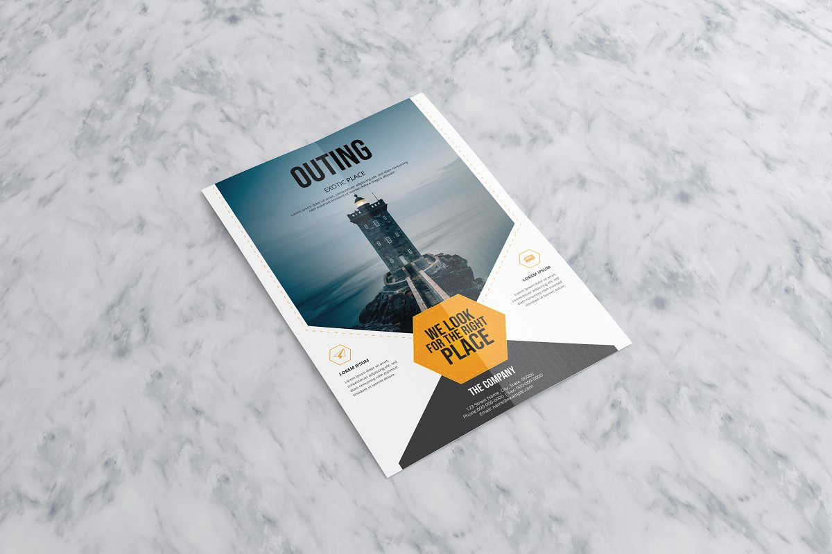 Outing Travel Flyer Template