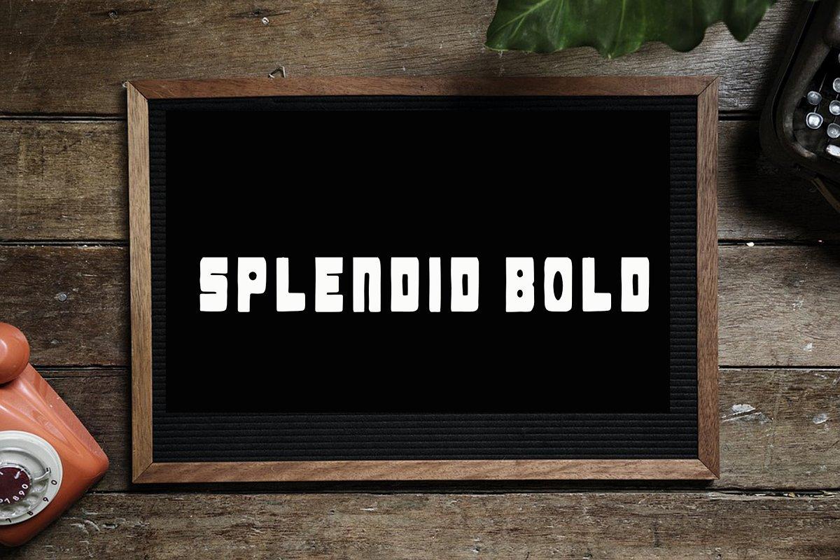 Splendid Bold Black Letter Font