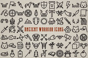 Ancient Warrior Icon Pack - 72 Icons