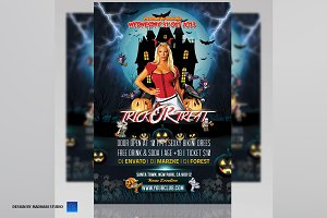 Trick Or Treat Party Flyer