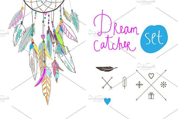 Dream Catcher Set Illustrations Creative Market