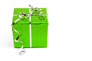 Green Christmas gift boxes