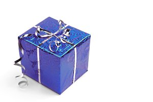 Blue Christmas gift boxes