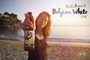 Beer | Bottle Beach Mockup