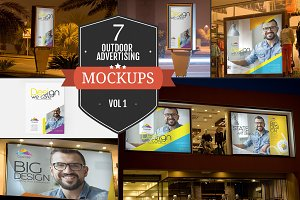 Outdoor Advertising Mockups Vol. 1
