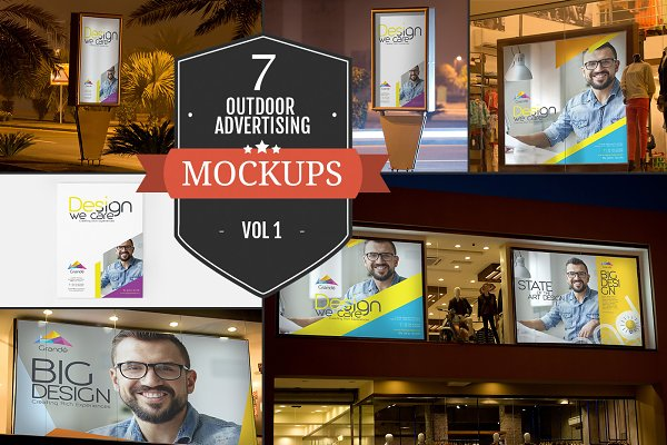 Outdoor Advertising Mockups Vol. 1