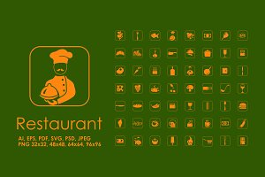 56 restaurant icons