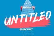 Untitled Brush Font