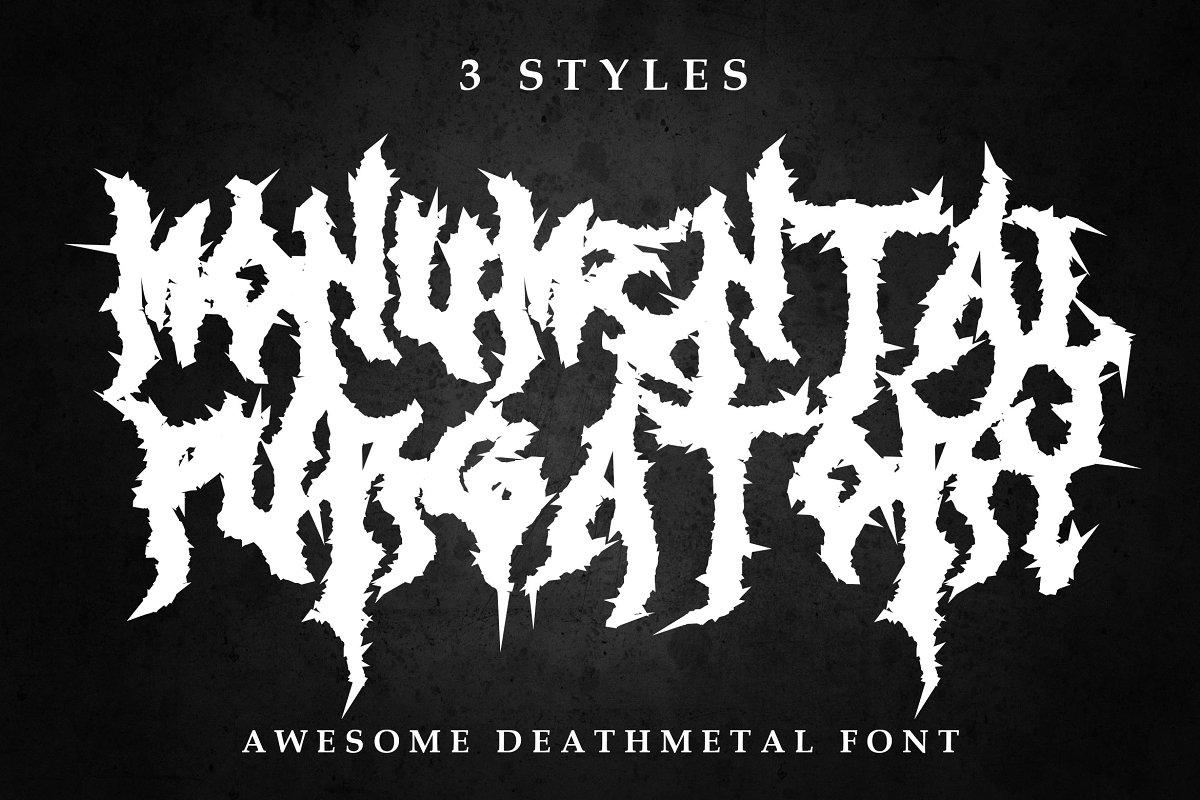 3 Awesome Deathmetal Fonts