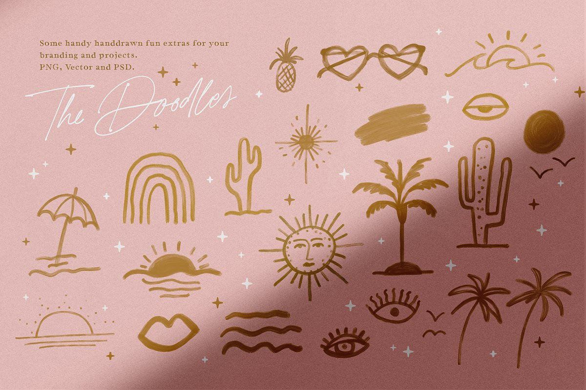 California Palms Fonts & Graphics