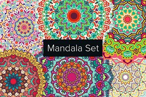 6 Vector mandala ornament collection